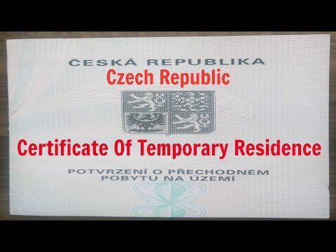 How To Get A Certificate Of Temporary Residence - Czech Republic