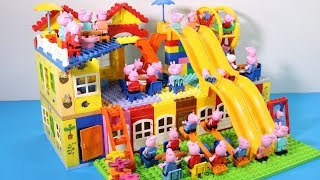 Peppa Pig Lego House Toys For Kids - Lego House With Water Slide Creations Toys #2