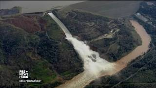 Precarious Oroville Dam highlights challenges of California water management At Northern California's Lake Oroville, water levels receded Monday, stopping the overflow of water from the dam's emergency spillway. This reduced the risk of ..., From YouTubeVideos