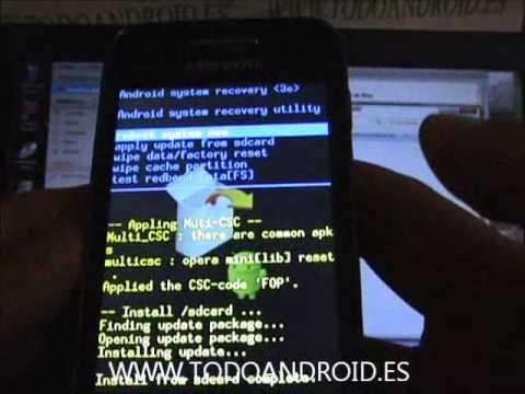 Como Rootear tu Samsung Galaxy Ace 2.3.4, 2.3.5, 2.3.6 y 2.3.7