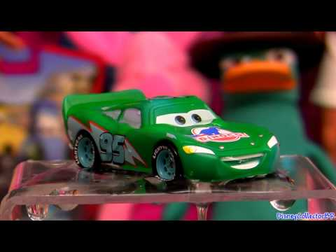 Lightning McQueen changing color Green to Aqua Turquoise Color Changers Cars Disney Pixar Travel Video