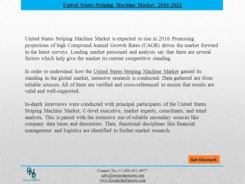 United States Striping Machine Market Forecasts 2021 - Research  N Reports