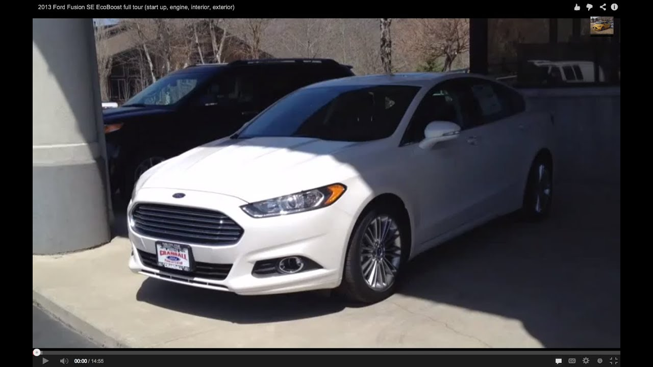 2013 Ford Fusion SE EcoBoost Full Tour (start Up, Engine, Interior,  Exterior)   YouTube