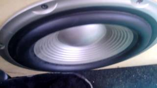 MAD sub excursion only 100 rms old JBL 12 inch subwoofer goes HAM part 2 its alive !