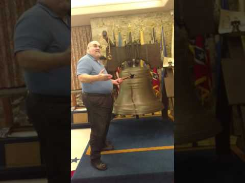 """Liberty Bell Museum """"ringing the Bell"""""""