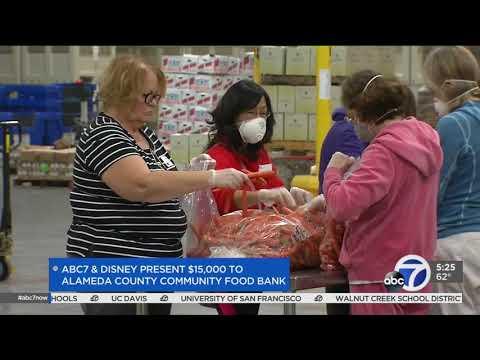 ABC7, Disney give $15,000 to Alameda County Community Food Bank