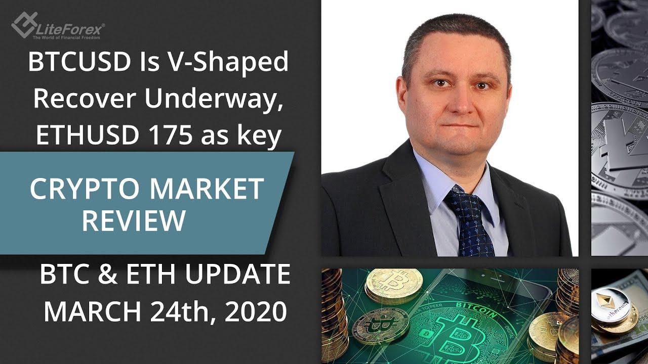 BTCUSD V-Shape Recovery ? ETHUSD 175 key Crypto:  Price Action, Technical Analysis 24.03.2020 1