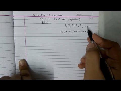 Chapter 5 Arithmetic progression Introduction class 10 maths || english or Hindi || math tutor