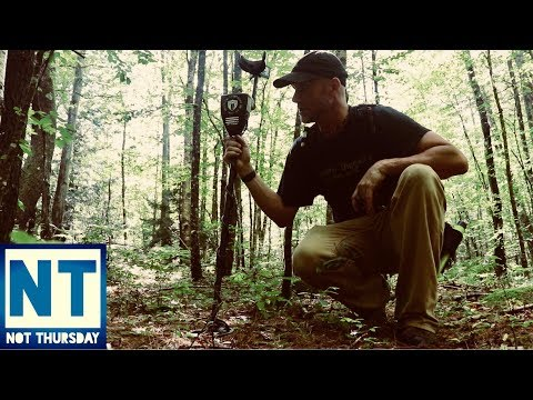Exploring & finding abandoned homesites in the forest of NH metal detecting NH -Not Thursday #44
