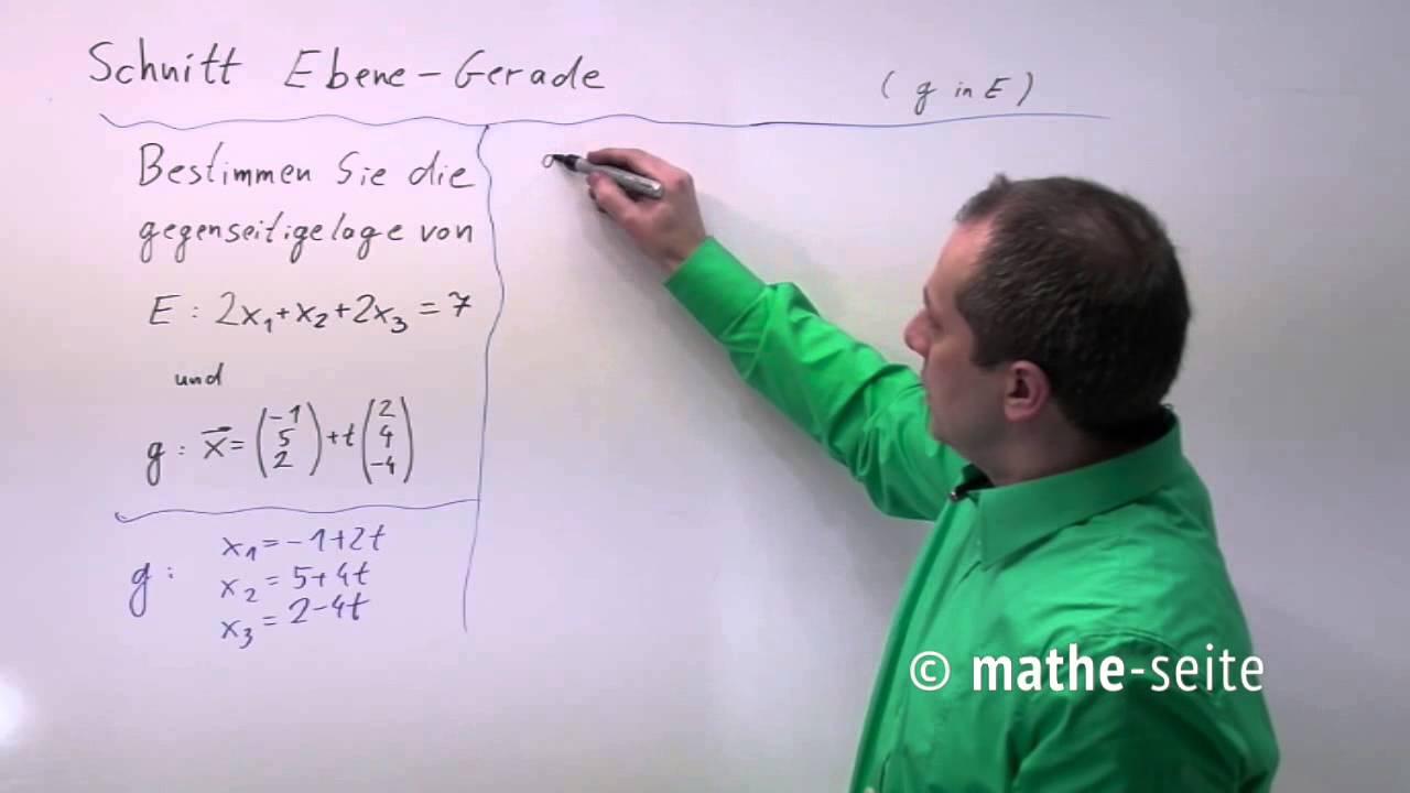 Schnittpunkt Gerade Ebene berechnen, Beispiel 2 | V.02.02 ...