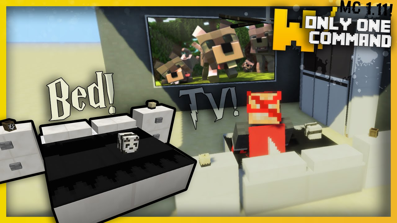 Modern Furniture Bed minecraft - modern bedroom furniture with only two command blocks