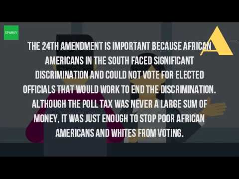 What Did The 24Th Amendment Do And How Did It Help African Americans