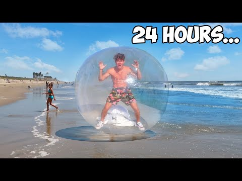 LIVING IN A BUBBLE FOR 24 HOURS!