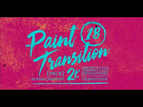 paint transition after effects template youtube