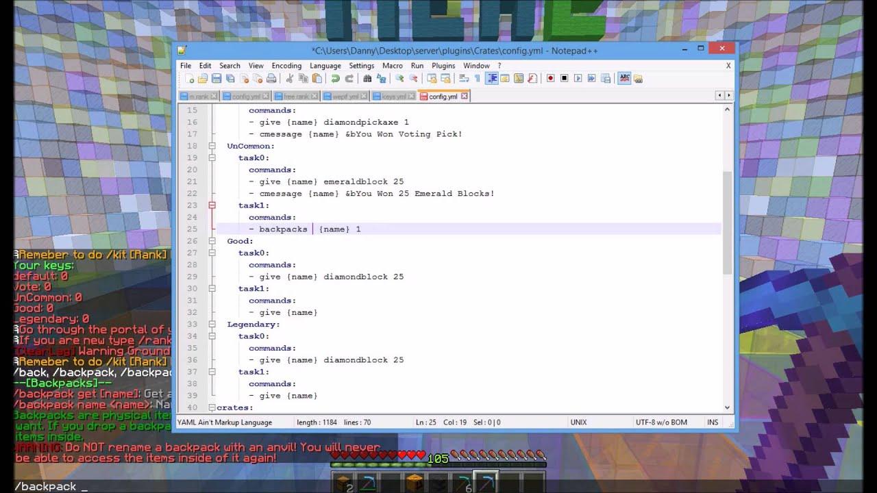 Minecraft - MysteryCrates Plugin Review