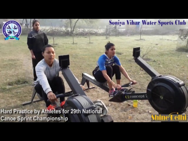 29th National Canoe Sprint Championship -- Hard Practice by Athletes