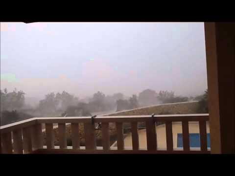 Storm in Croatia ( island Pag ) 26/8/2012