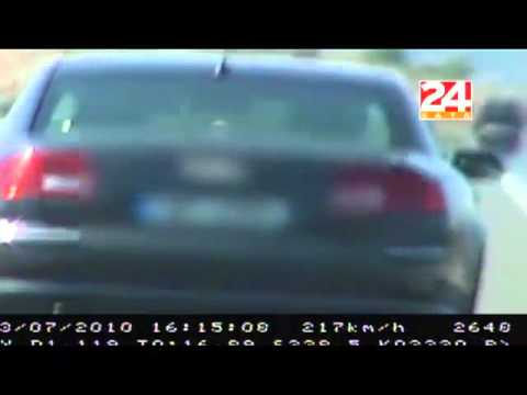 High speed chase on Croatian highway - 2010