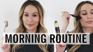 Weekday Morning Skincare & Makeup Routine | ttsandra thumbnail