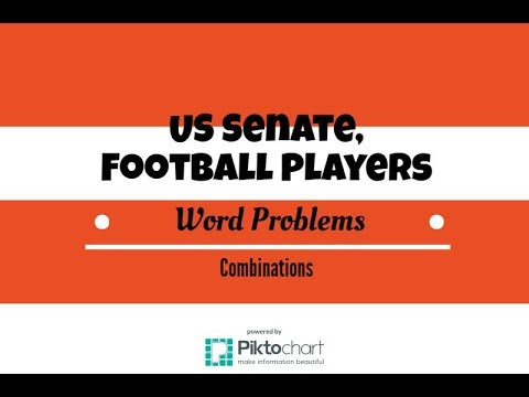 How To Find Number of US Senate Committees. Football Players Combinations