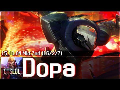 Dopa biến ảo với sát thủ Zed ở đường giữa