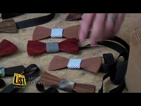 Wooden bow ties all the rage in men's fashion