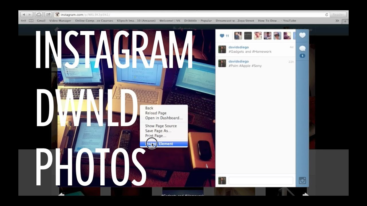 how do you save a picture from instagram on a mac
