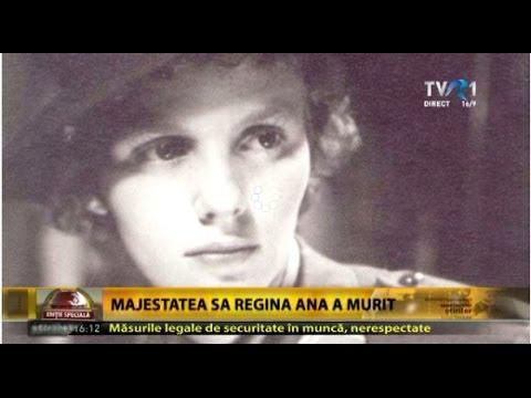 Regina Ana a încetat din viaţă la vârsta de 92 de ani