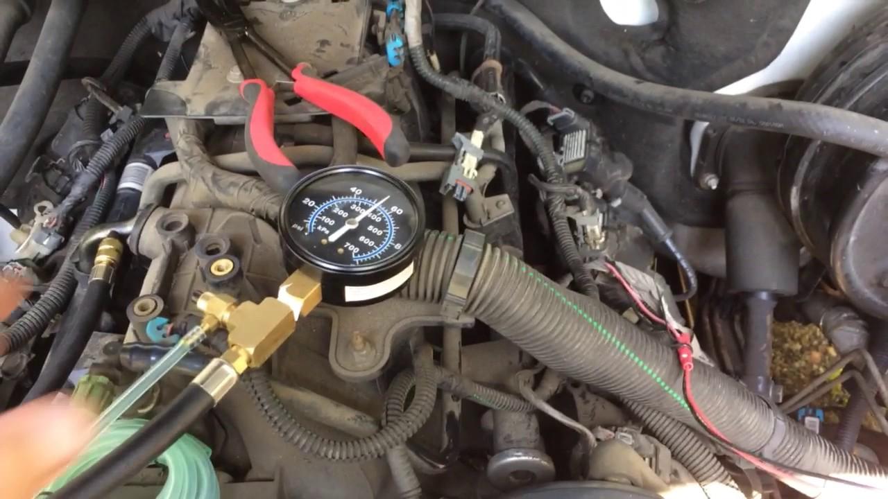 2005 Chevy Silverado fuel injector balance test