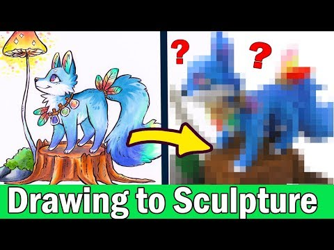 TURNING YOUR ART INTO SCULPTURE #4 Polymer Clay DIY CRAFT Art Challenge