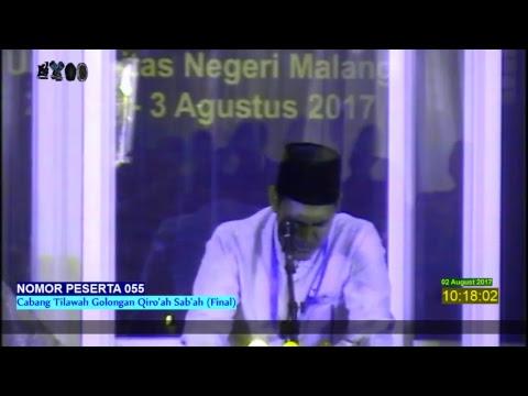 MTQ MAHASISWA TINGKAT NASIONAL KE XV TAHUN 2017 MUSABAQAH QIRA'AT SAB'AH
