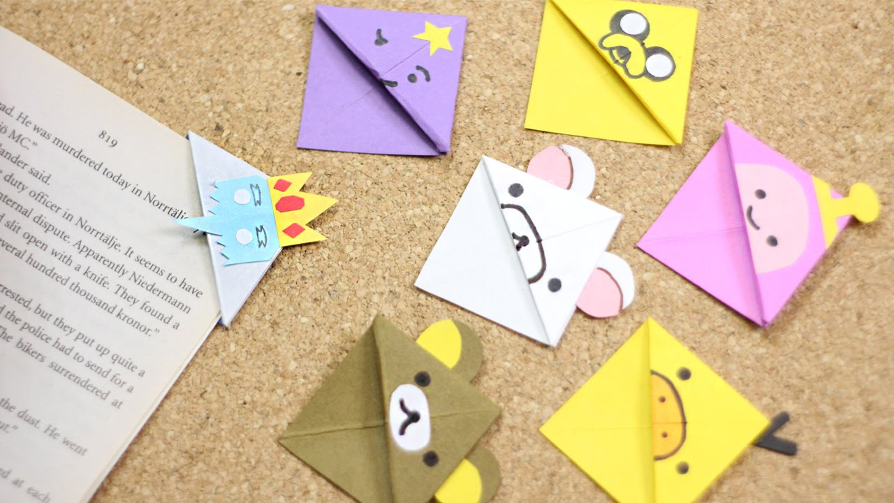 #RetoCrafty: lindos separadores de origami con personajes