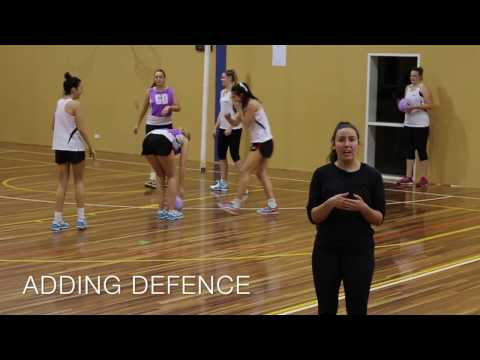 NETBALL DRILL: KELSEY BROWNE'S SPLIT AND HIT