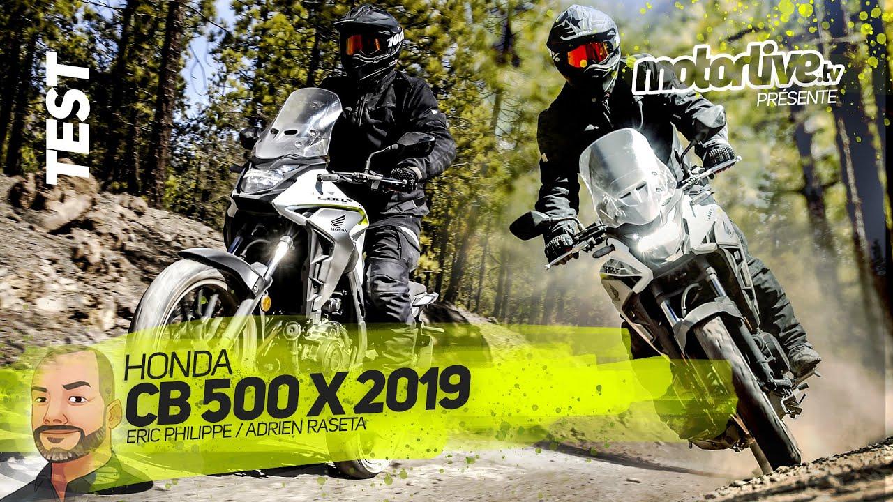 Honda Cb500 X 2019 Test Motorlive Youtube