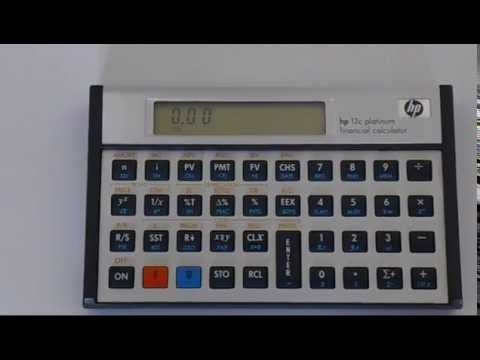 How to Reset an HP 12C Financial Calculator