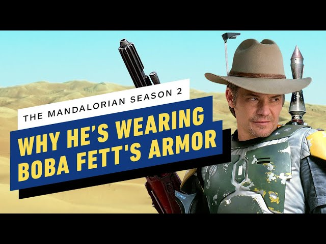 Por qué Timothy Olyphant lleva la armadura de Boba Fett en la temporada 2 de Mandalorian - IGN Now + vídeo
