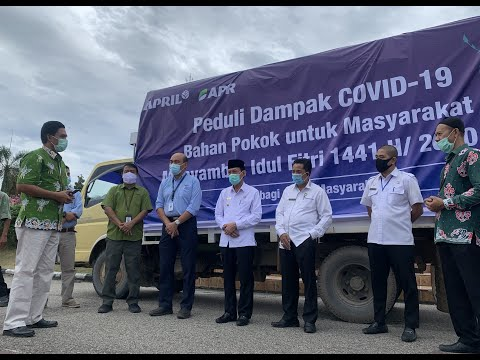 Asia Pacific Rayon Distributed Donation to COVID-19 Impacted Communities in Riau