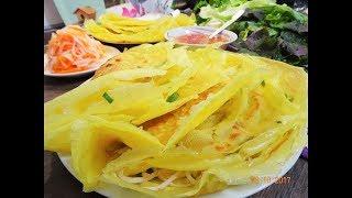 Bánh Xèo - Bí quyết pha Bột đổ Bánh Xèo giòn - Bánh Xèo nhân Tôm Thịt - làm đồ chua by Vanh Khuyen