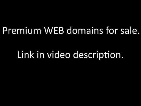 Cheap PREMIUM WEB Domains For Sale