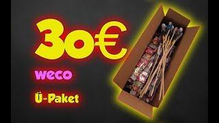 Weco Ü Paket 30 Euro Unboxing 2017 / 2018 | #professorpyro