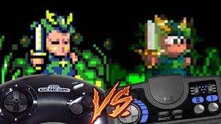 Sega Genesis Vs PC Engine CD - Wonderboy III: Monster Lair