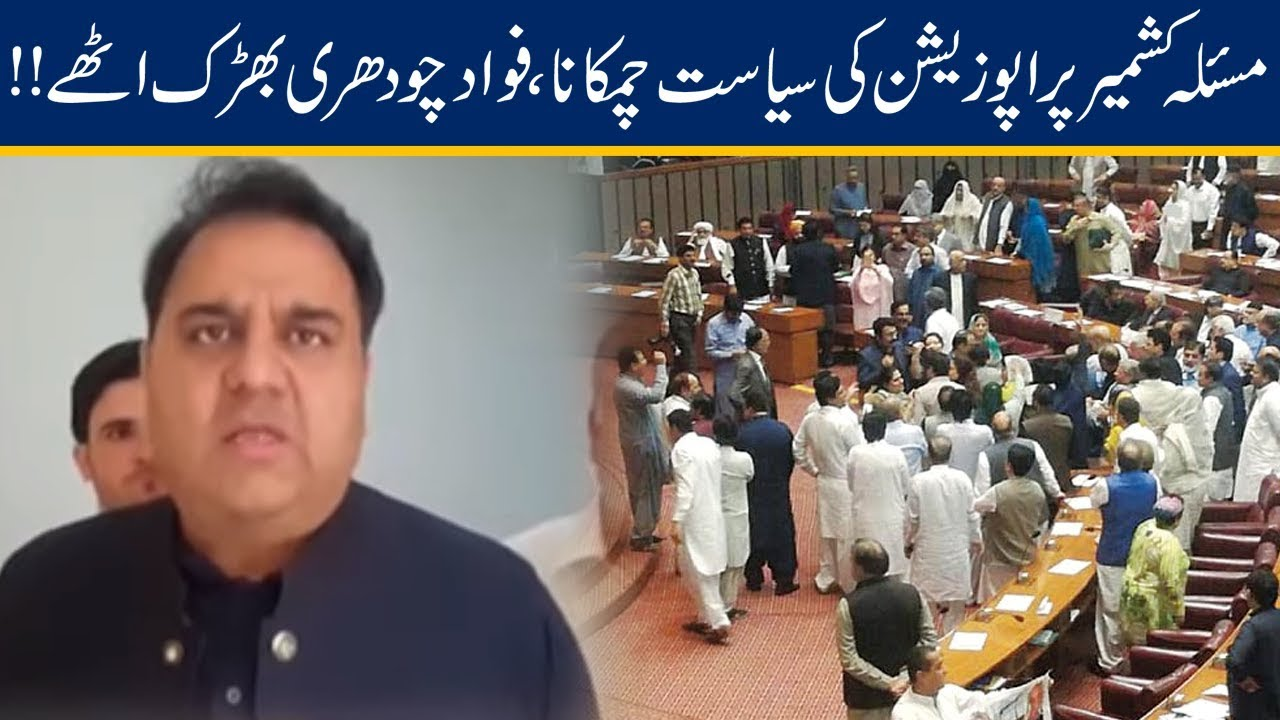 Fawad Ch Grills Opposition For Doing Politics On Kashmir Issue