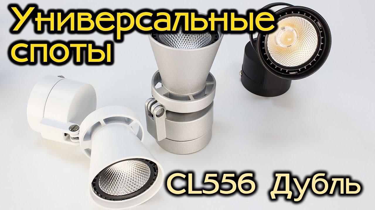 Спот (поворотный) светодиодный Citilux Дубль-2 CL556611 Серебристый