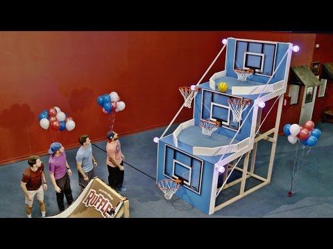 Thumbnail: Giant Basketball Arcade Battle | Dude Perfect