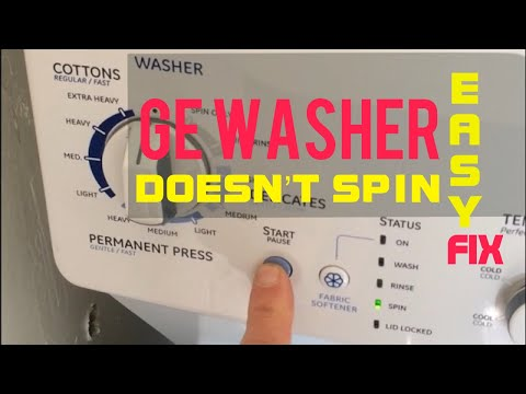 Ge Washer Doesn T Spin Easy Fix Youtube