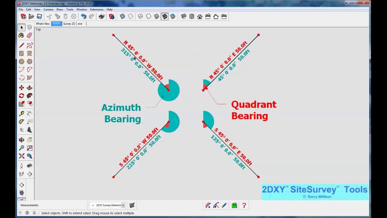 2DXY SiteSurvey tools | SketchUp Extension Warehouse