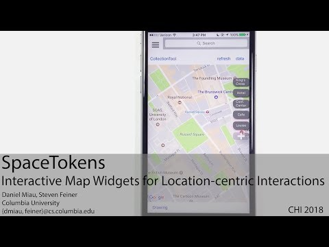 SpaceTokens: Interactive Map Widgets for Location-centric Interactions (ACM CHI 2018)