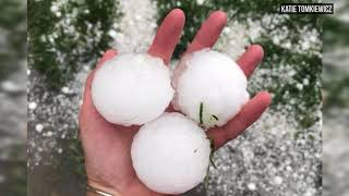 Viewer video of massive hailstorm shows extent of damage