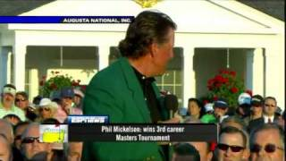 Phil Mickelson Wins the 2010 Masters