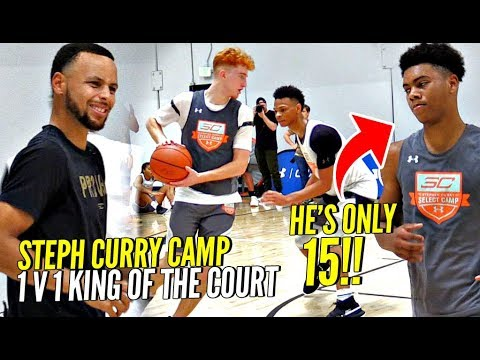 1 v 1 King of The Court STEPH CURRY Camp Edition!! 15 Year Old SHOCKS  Steph!! Nico Mannion SNAPS!!